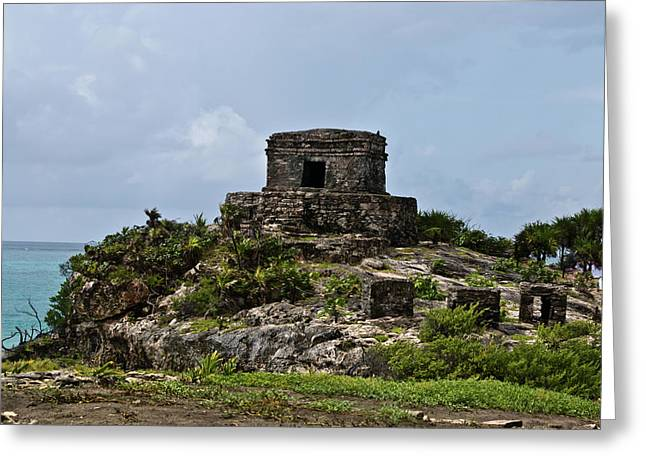 Solidity Greeting Cards - Offertories Telum Ruins Mexico Greeting Card by Douglas Barnett