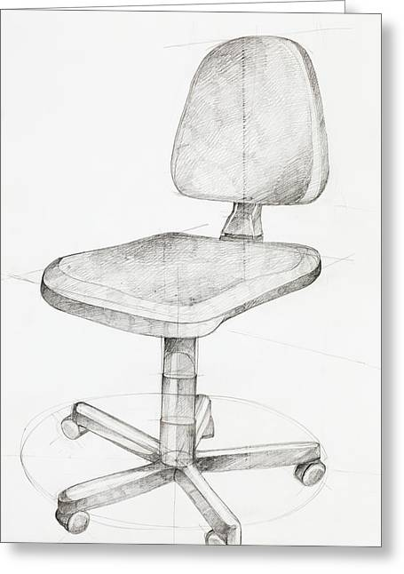 Office Chair Greeting Card