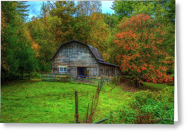 Office In The Barn Gambrel Barn Art Greeting Card by Reid Callaway