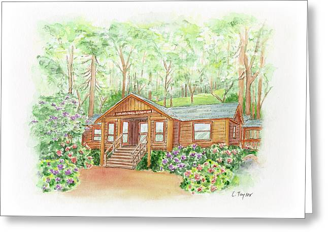 Office In The Park Greeting Card