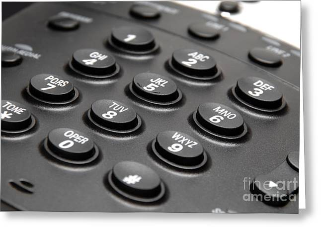 Office Phone Keypad Picture Greeting Card by Paul Velgos