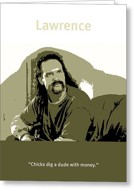 Office Space Lawrence Diedrich Bader Movie Quote Poster Series 006 Greeting Card by Design Turnpike