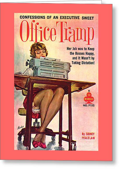Office Tramp Greeting Card