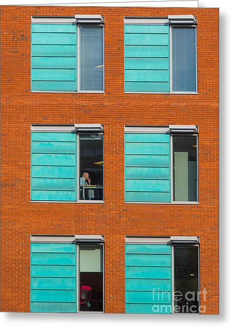 Office Windows Greeting Card by Colin Rayner
