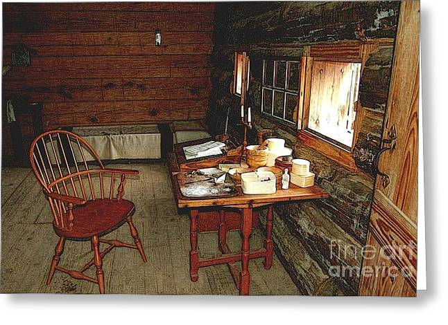 Officers Quarters Fort Stanwix Greeting Card by Diane E Berry