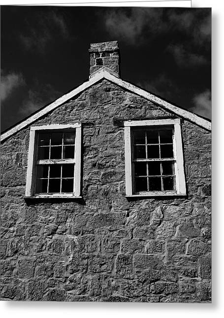 Officers Quarters, Monochrome Greeting Card
