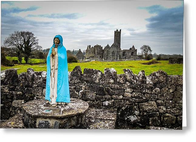 Official Greeter At Ireland's Quin Abbey National Monument Greeting Card