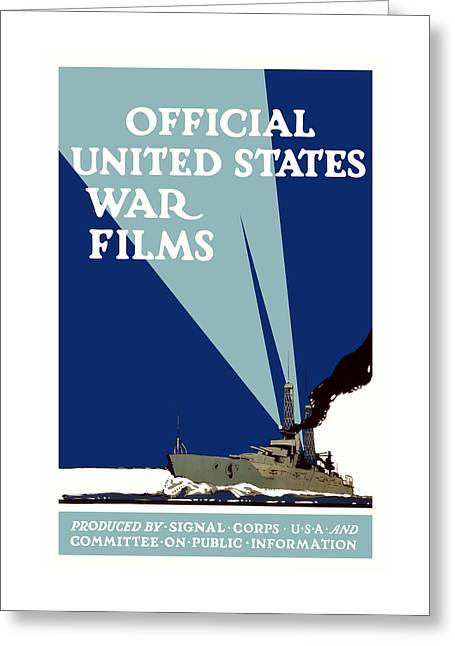 Official United States War Films Greeting Card