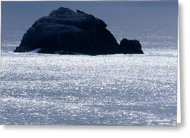 Offshore Rock - Highway One Greeting Card