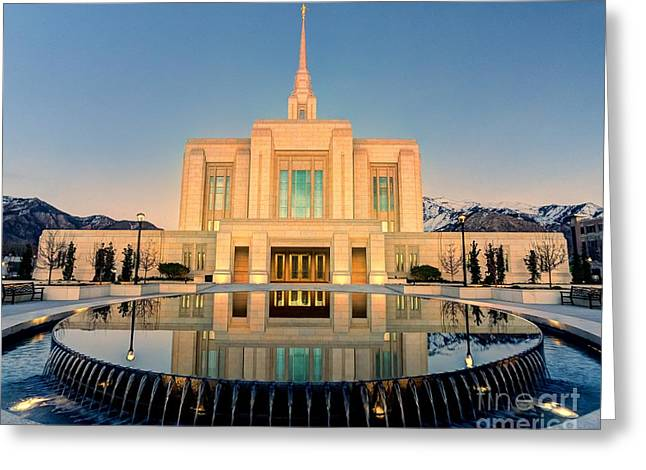 Ogden Lds Temple Greeting Card