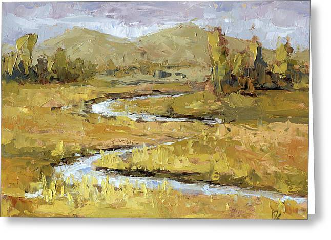 Greeting Card featuring the painting Ogden Valley Marsh by David King