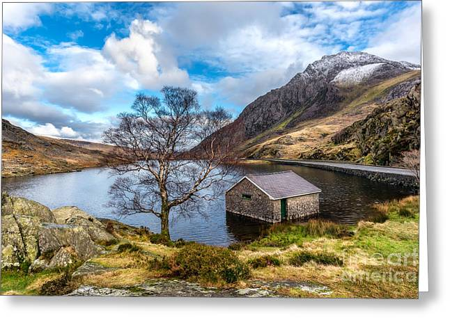 Ogwen Lake Greeting Card by Adrian Evans