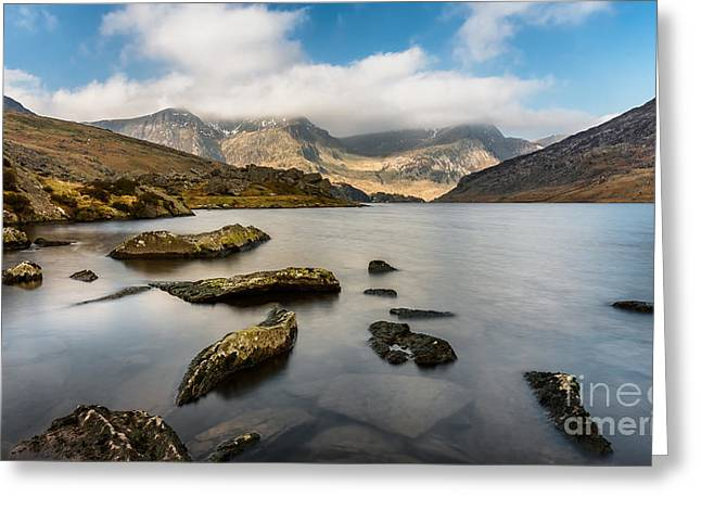 Ogwen Lake Wales Greeting Card by Adrian Evans