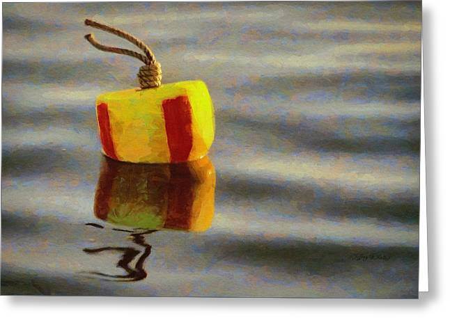 Greeting Card featuring the painting Oh Buoy by Jeff Kolker