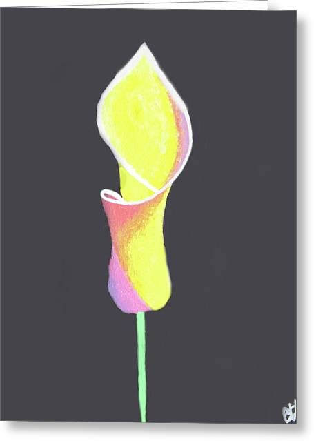 Oh Lily Greeting Card by Cyrionna The Cyerial Artist