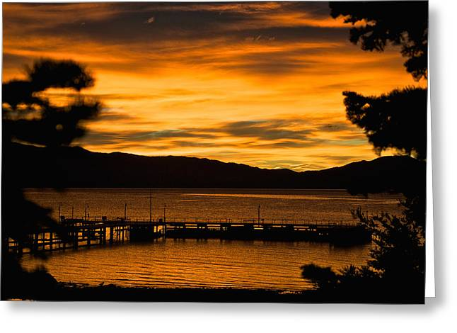 Oh Tahoe Glow Greeting Card by Steven Lapkin