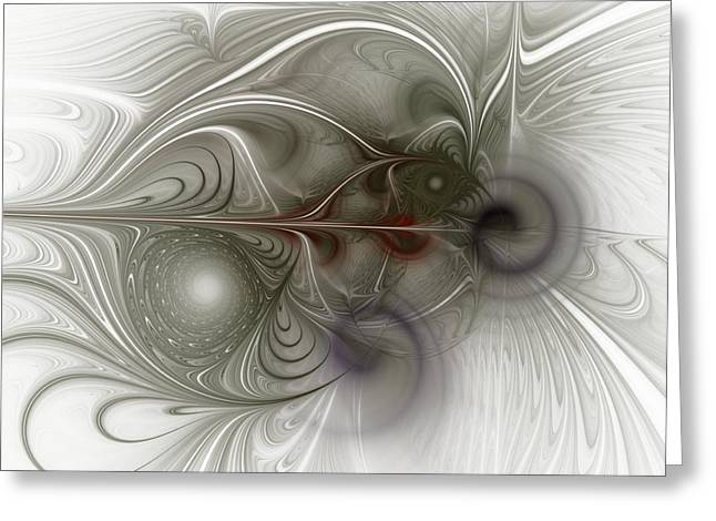 Greeting Card featuring the digital art Oh That I Had Wings - Fractal Art by NirvanaBlues