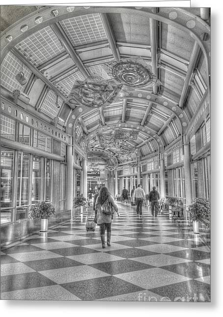 Ohare Concourse Greeting Card by David Bearden