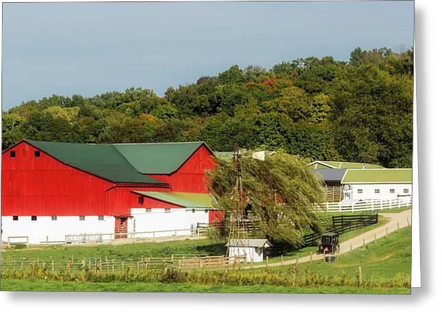 Ohio Amish Farm Greeting Card