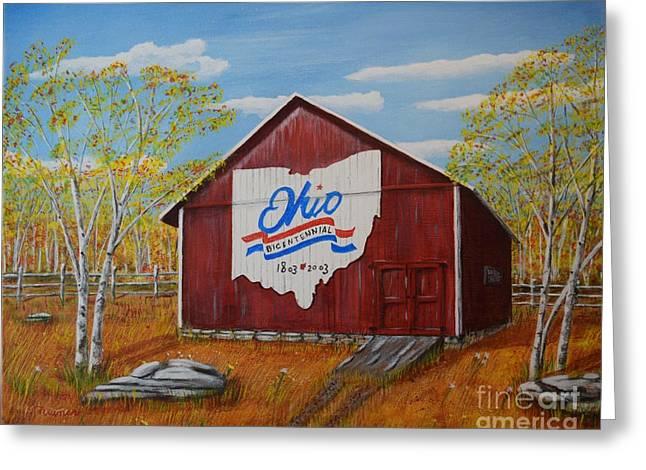 Ohio Bicentennial Barns 22 Greeting Card