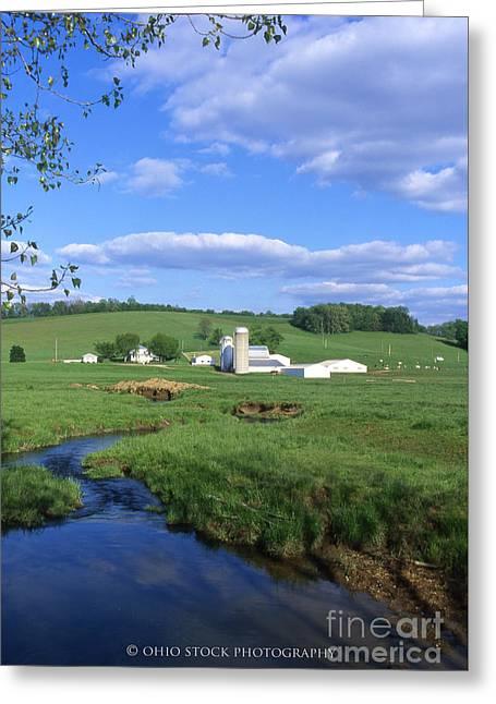 3d203 Ohio Farm Photo Greeting Card
