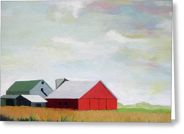 Ohio Farmland- Red Barn Greeting Card