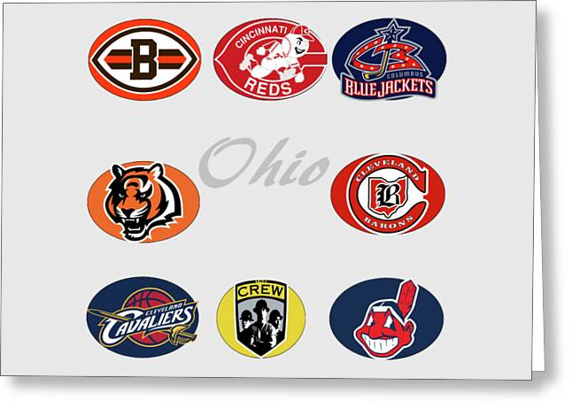 Ohio Professional Sport Teams Collage Greeting Card