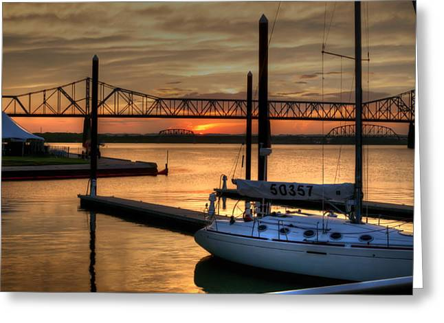 Greeting Card featuring the photograph Ohio River Sailing by Deborah Klubertanz