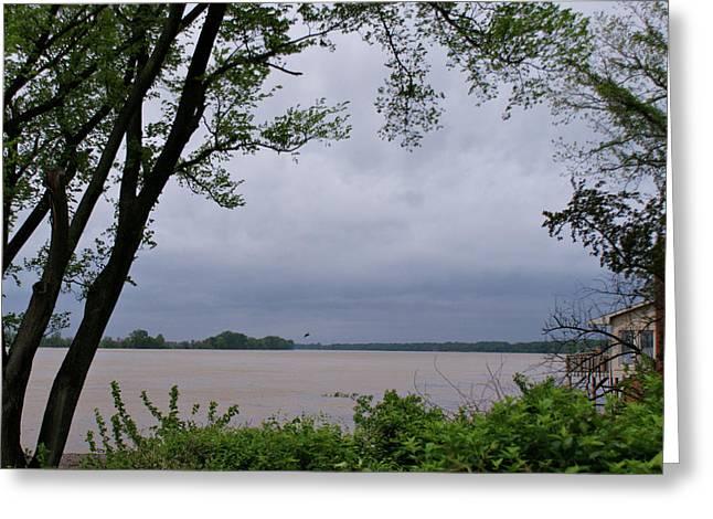Ohio River Greeting Card by Sandy Keeton