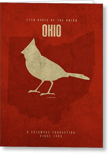 Ohio State Facts Minimalist Movie Poster Art Greeting Card