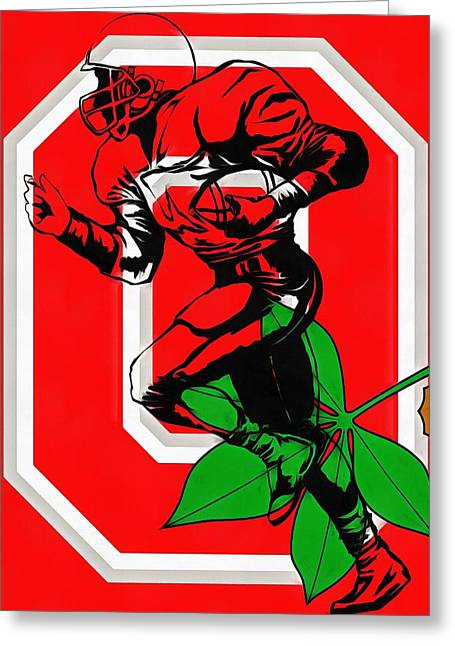 Ohio State Football Player Greeting Card