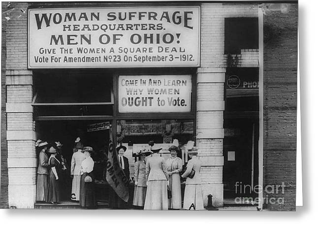 Political Rally Greeting Cards - Ohio Suffrage Headquarters in Cleveland Greeting Card by Padre Art