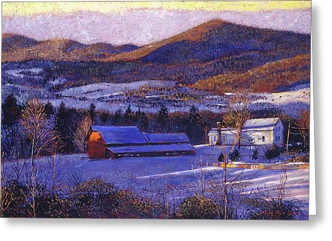 Ohio Winter Blue Greeting Card by David Lloyd Glover