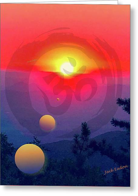 Ohm Greeting Card by Jack Eadon
