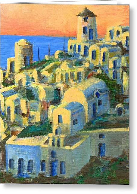 Oia. Santorini Greeting Card