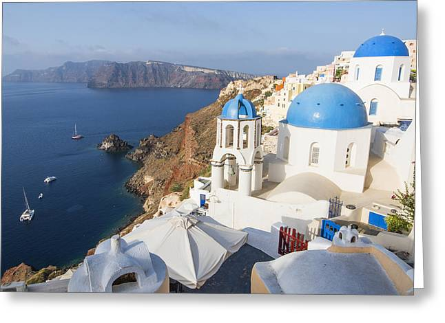 Oia Views, Santorini Greece Greeting Card