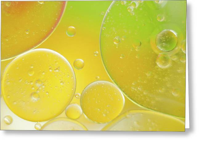 Oil And Water Bubbles  Greeting Card
