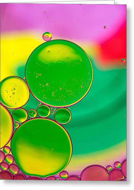 Oil And Water P Greeting Card by Rebecca Cozart