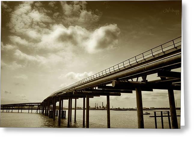 Oil Bridge II Greeting Card by Joseph Westrupp