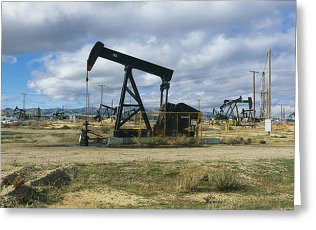 Oil Field Greeting Card by Panoramic Images