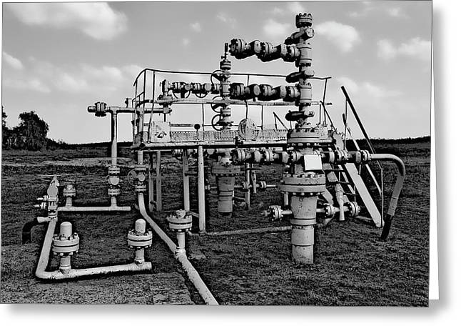Oil Field Pipe Greeting Card