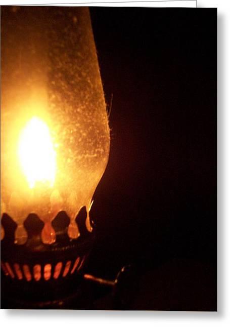 Oil Lamp Greeting Card by Katie Burris