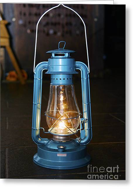 Oil Lamp Greeting Card by Mopics Eu