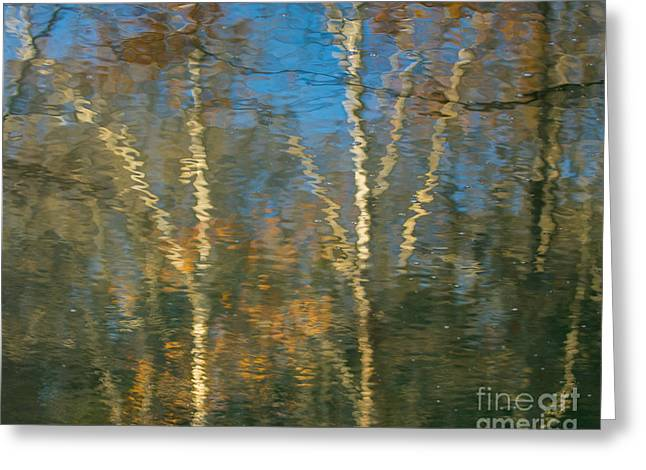 Oil Painting Trees Greeting Card