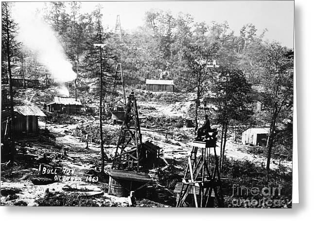Oil: Pennsylvania, 1863 Greeting Card