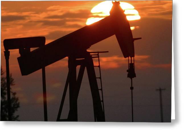 Oil Pump Jack 7 Greeting Card by Jack Dagley