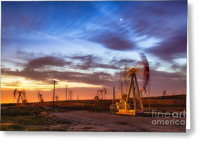Oil Rigs 3 Greeting Card
