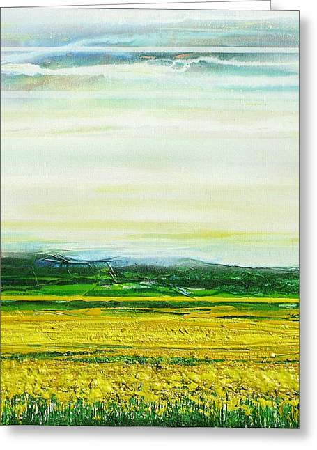 Oil Seed Rape Tyndale No3 Greeting Card by Mike   Bell