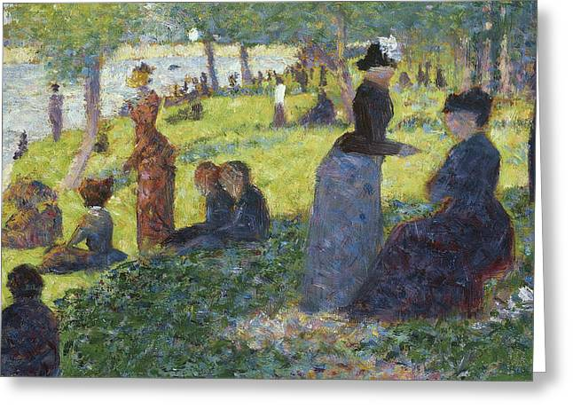 Oil Sketch For La Grande Jatte Greeting Card by Georges Pierre Seurat