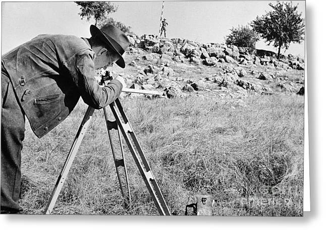 1944 Greeting Cards - OIL SURVEYORS, c1944 Greeting Card by Granger